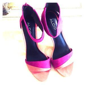 Aldo Hot Pink/Coral Stilettos